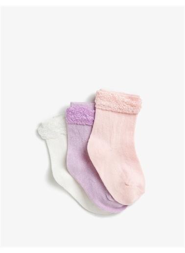 Koton Koton Pamuklu Basic Kız Çocuk Çorap Seti Pembe